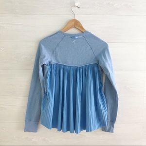 {ivivva} Periwinkle pleated back sweatshirt, 12